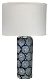 Cherai Table Lamp in Blue and White Ceramic