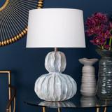 Oceane Urchin Table Lamp in Ceramic room view