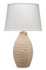 White Rope Wrapped Table Lamp