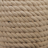 White Rope Wrapped Table Lamp close up base