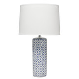 Vivian Table Lamp in Blue Ceramic