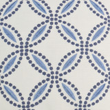 Circle Back Blue and White Luxury Pillow close up image