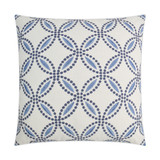 Circle Back Blue and White Luxury Pillow