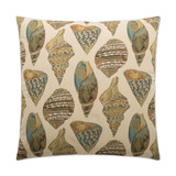 She Shells Embossed Luxury Coastal Pillow