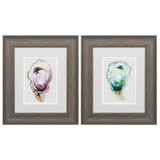 Set of 2 Oyster Shells Wall Art
