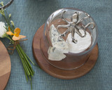 Covered Glass Cheese Board with Octopus beauty image on table
