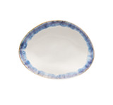 Brisa Ria Blue Oval Appetizer Plates
