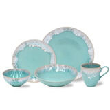 Taormina Aqua 5 piece Place Setting
