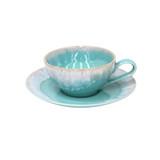 Taormina Aqua Tea Cup and Saucer Sets