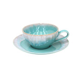Taormina Aqua Tea Cup and Saucer Sets