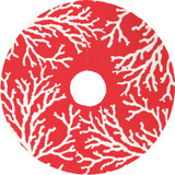 Accent your holiday decor with a bold coastal twist - enjoy this bright red and white Coral Reef Christmas Tree Skirt.