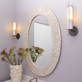 Sea Chic Oval Mirror in Mother of Pearl room view