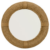 Round Rope-Wrapped Mirror