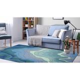 Blue Tide Water Indoor-Outdoor Area Rug indoor room