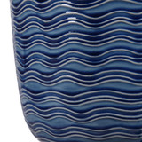 Waves of Blue Table Lamp close up base