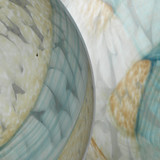 Glass Float Balls in Pale Blue Glass close up 2