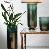 Large Vapor Vase in Metallic Aqua beauty 2