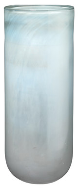 Large Vapor Vase in Metallic Opal Glass