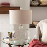 Bentley Clear Seeded Glass Cottage Lamp light off