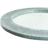 Natalia Mother of Pearl Round Mirror edge detail