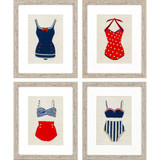 Vintage Framed Swimsuits Set of Four