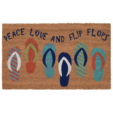 24 x 36 Peace Love and Flip Flops Natura Coir Door Mat