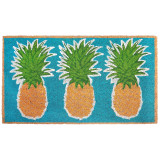 24 x 36 Aqua Pineapple Trio Natura Coir Door Mat