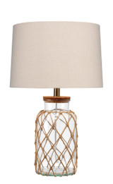 Maritime Rope Net Clear Glass Lamp