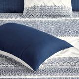 Malibu Boho Navy and White Comforter set details
