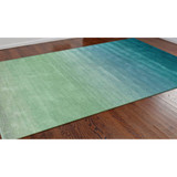 Arca Aqua Plush Wool Rug room view 2