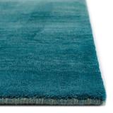 Arca Aqua Plush Wool Rug corner and pile
