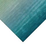 Arca Aqua Plush Wool Rug close up corner pattern
