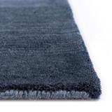 Arca Sea Blues Plush Wool Rug corner and pile