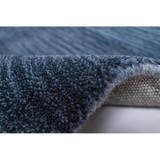Arca Sea Blues Plush Wool Rug roll