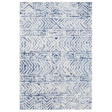 Boho Batik White and Blue Cyprus Rug