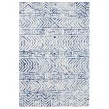 Boho Batik White and Blue Cyprus Rug