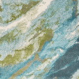 Turquoise Abstract Watercolors Rug close up 2
