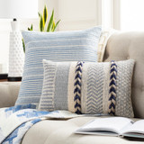 Salish Sea Navy Hand-Woven Pillow group shot