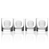 Sand Dollar Rocks Glasses - Set of 4