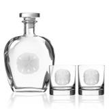Sand Dollar Rocks Glasses - Set of 2 with pitcher