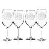 Sand Dollar 18 oz. Wine Glasses - Set of 4