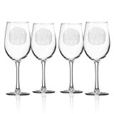 Sand Dollar 12 oz. Wine Glasses - Set of 4