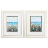 Flowers at the Coast Set of Two Framed Images