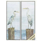 Pier Visitors Panel Art - Set of Two