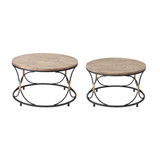 Key West Set of Two Round Cocktail Tables