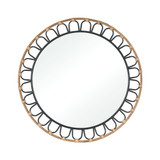 Key West Round Wicker Mirror