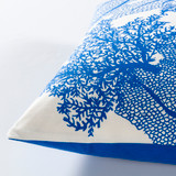 Royal Blue Sea Life Pillow side view
