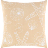 Sand and Ivory Shell Printed Pillow