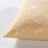 Sand and Ivory Shell Printed Pillow side view