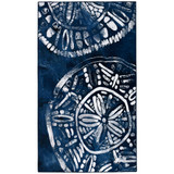 Inky Blue Sea Batik Area Rug